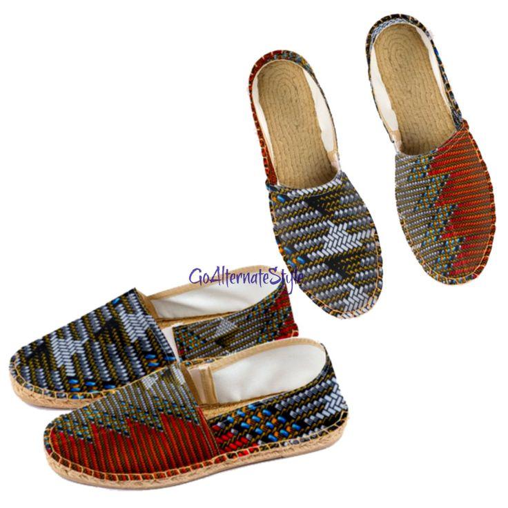 Men's Beach Shoes, Holiday Shoes For Men Espadrille Shoes, Jute Shoe Boho Man, Flat Shoe Men's Shoe by AlternateStyle on Etsy  #presentforhusband #mensshoe #bohoman