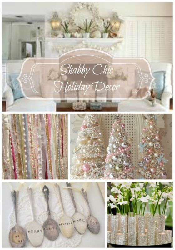 chic christmas on pinterest christmas trees pastel and shabby chic