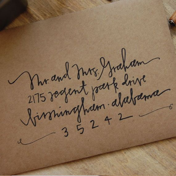 Made in the Fold handwritten envelopes. $2.25, calligraphy, etsy