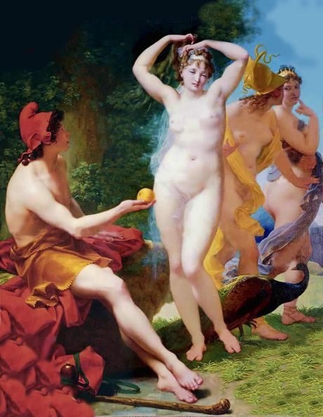 "Mythology: ""The Golden Apple of Discord"" / Poetry: ""Who is The Fairest?"", by Christy Birmingham .- 