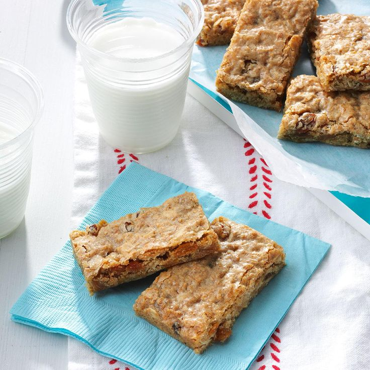 Cinnamon-Raisin Granola Bars Recipe -I make these chewy bars with cinnamon, raisin and maple for quick breakfast and road trip. You can use chocolate chips instead of raisins.—Kristina Miedema, Houghton, NY