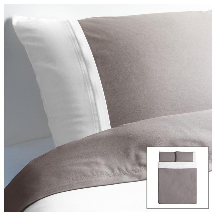 frglav duvet cover and pillowcases graywhite king ikea