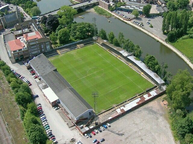 Gay Meadow, Shrewsbury Town in the 1980s.