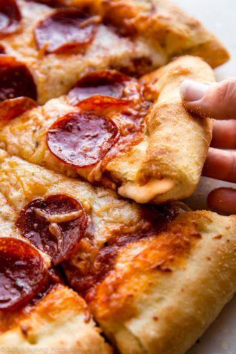 Stuffed Crust Pizza Recipe | Yummly