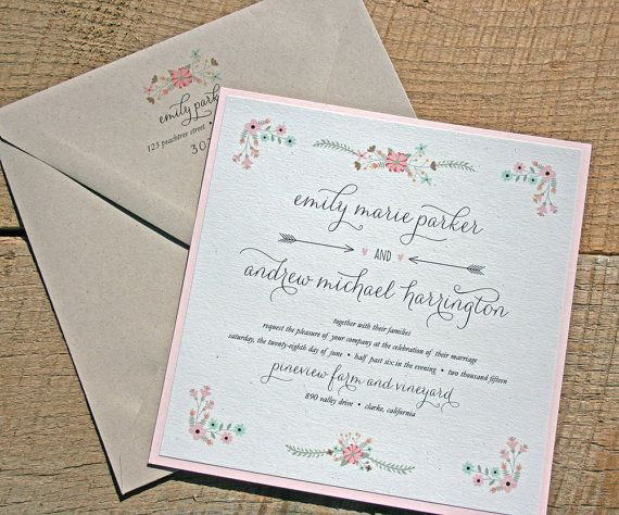 1000 Ideas About Blush Wedding Invitation Sets On Pinterest