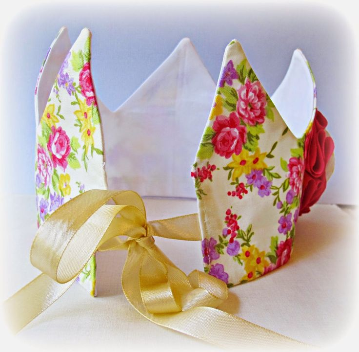 image fabric crown sew your own tutorial diy tie on ribbon
