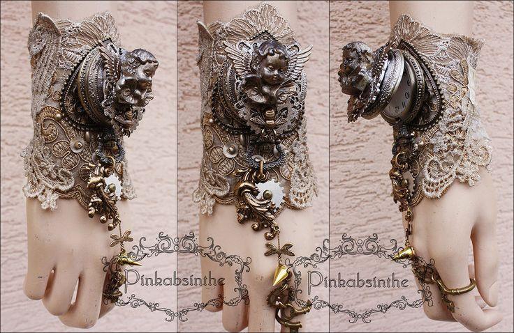 Amourus watch cuff by Pinkabsinthe on DeviantArt