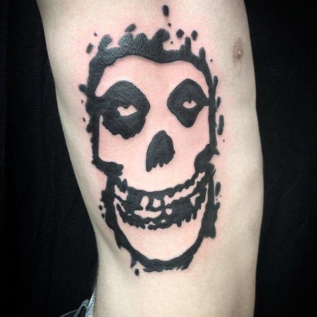 Insight Oceanside On Instagram Misfits Tattoo By Art By Tanner In 2020 Misfits Tattoo Tattoos Skull Tattoo