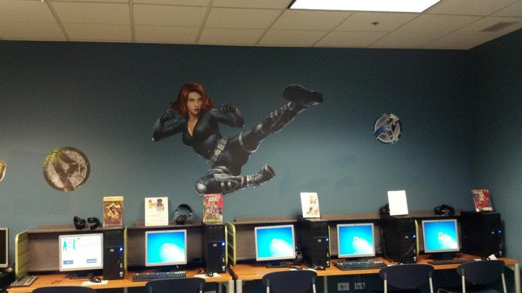Fatheads used in Teen Library Spaces -    MissHootieHoo.com