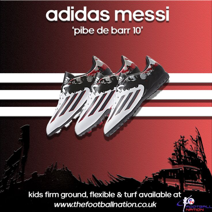 The kids' Messi Pibe de Barr10 football boots have arrived - http://www.thefootballnation.co.uk/adidas-kids-football-boots/