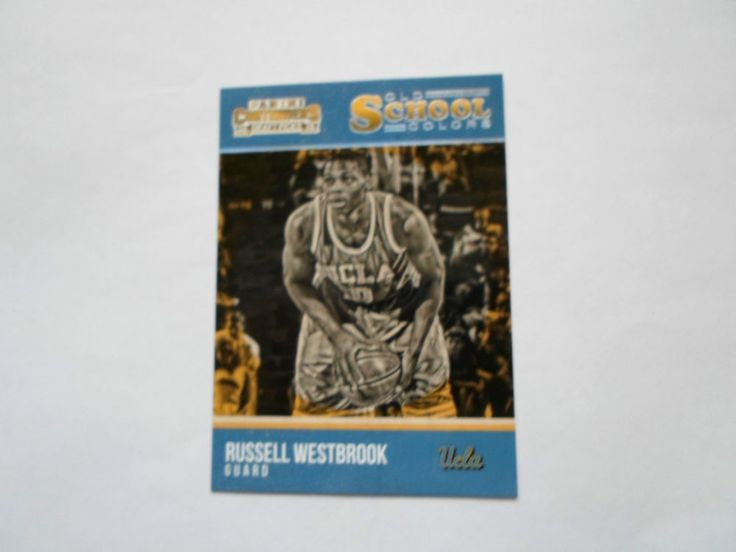 2015 PAMINI CON. DRAFT PICKS OLD SCHOOL COLORS RUSSELL WESTBROOK # 28 #UCLA
