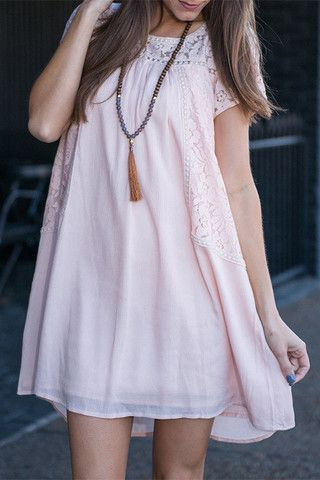 Cupshe Little Things Sweet Lace Casual Dress