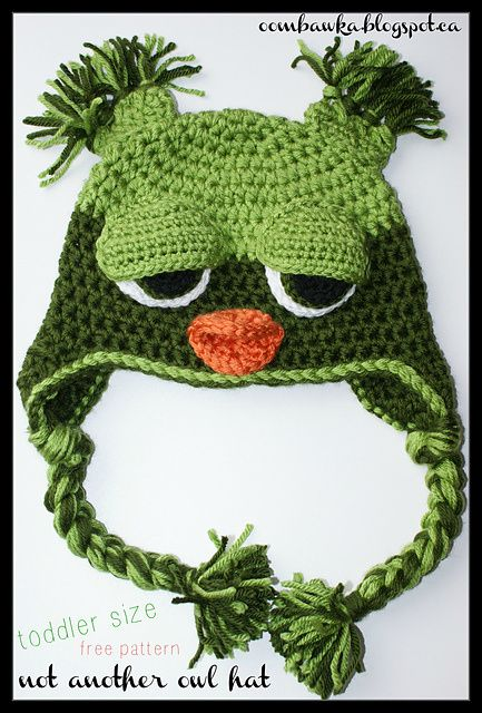 Not Another Owl Hat Toddler Free Pattern