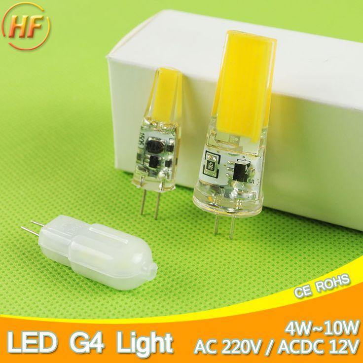Dimmable 12V/220V Mini G4 LED Lamp COB LED Bulb 4W 6W 10W AC DC LED G4 Chandelier Replace Halogen Light Lampada Bombilla Ampoule