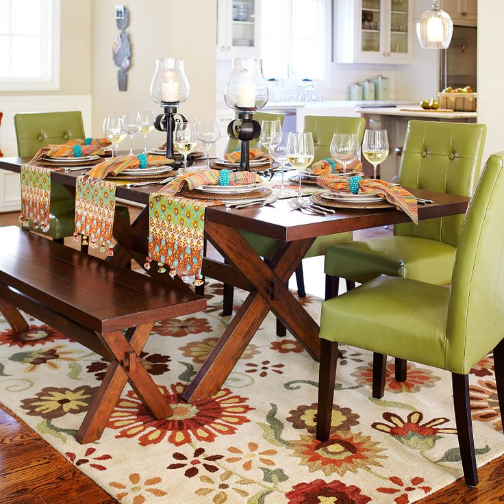 16 Absolutely Gorgeous Mediterranean Dining Room Designs: Nolan Extension Tuscan Brown Trestle Table