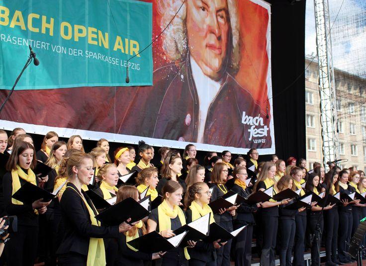 Mädchen- und Frauenchor der Stadt Leipzig, Bach Open Air, Juni 2017, Foto: Marieke Bauch