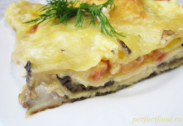 Вегетарианская лазанья с баклажанами и соусом бешамель - рецепт