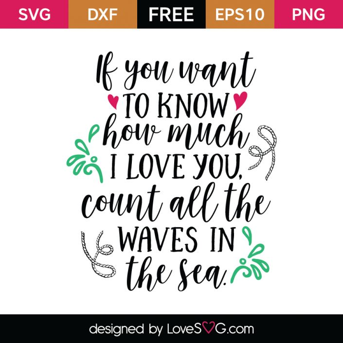 *** FREE SVG CUT FILE for Cricut, Silhouette and more *** If you want to know how much I love you