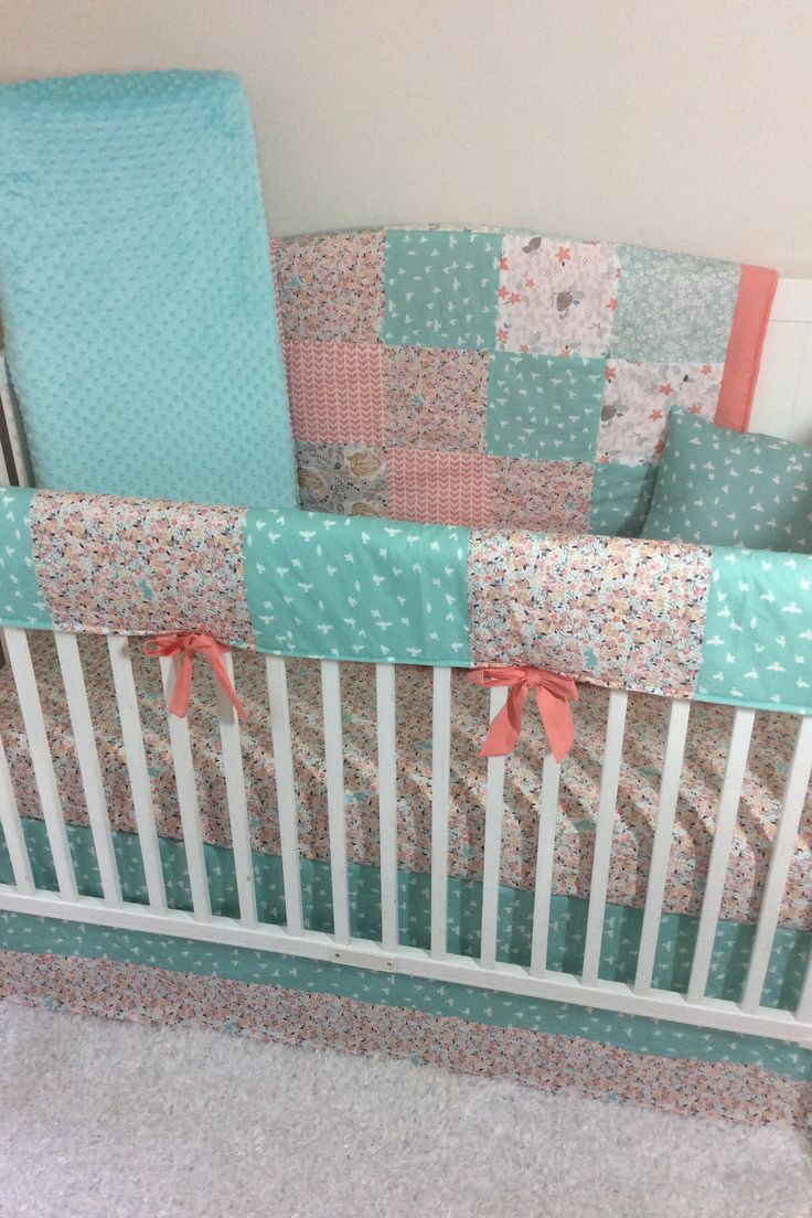 Crib bedding set gray white navy blue with by butterbeansboutique - A Personal Favorite From My Etsy Shop Https Www Etsy Com