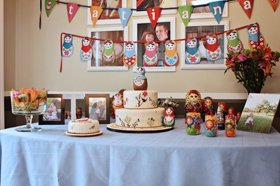 Not for the current wee one, but maybe for the daughter I hope to someday have... adorable matryoshka doll themed party!