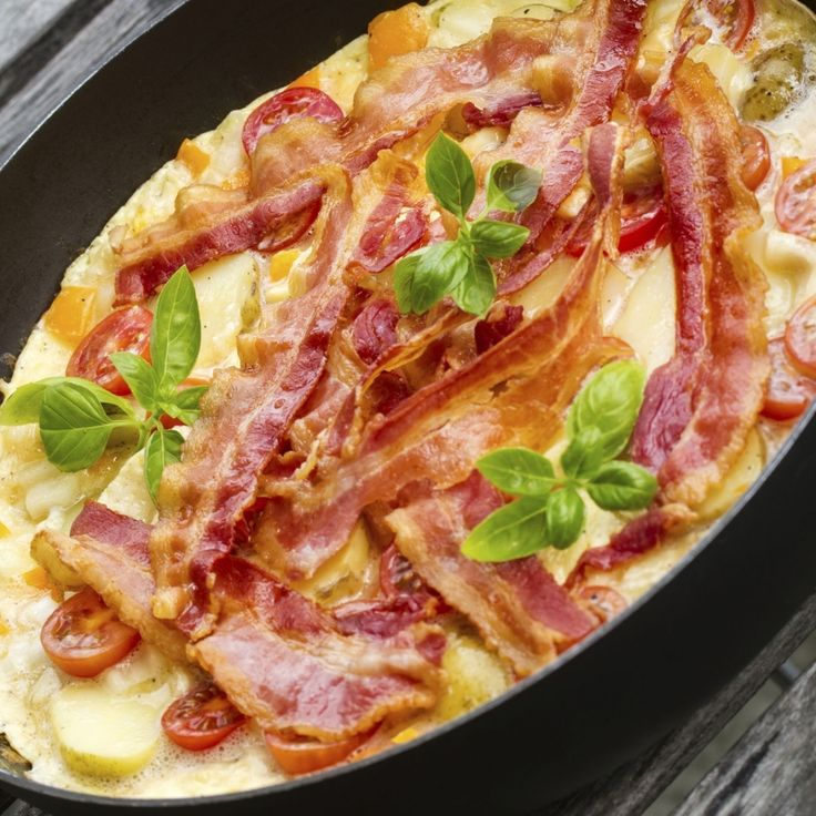 Bacon And Fried Potato Omelette Recipes — Dishmaps