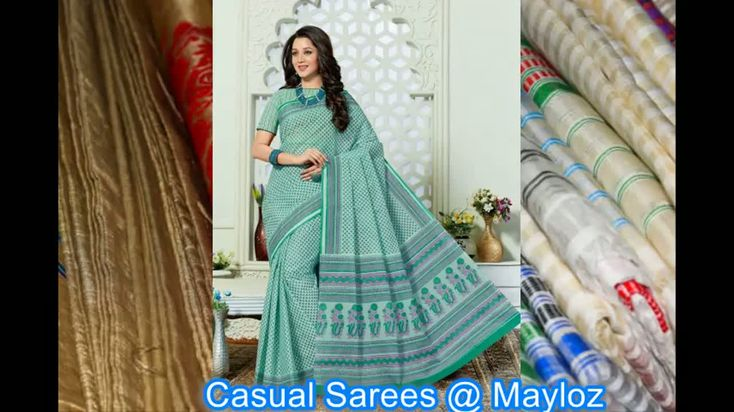 !! Women casual sarees  Collection !!!   www.mayloz.com