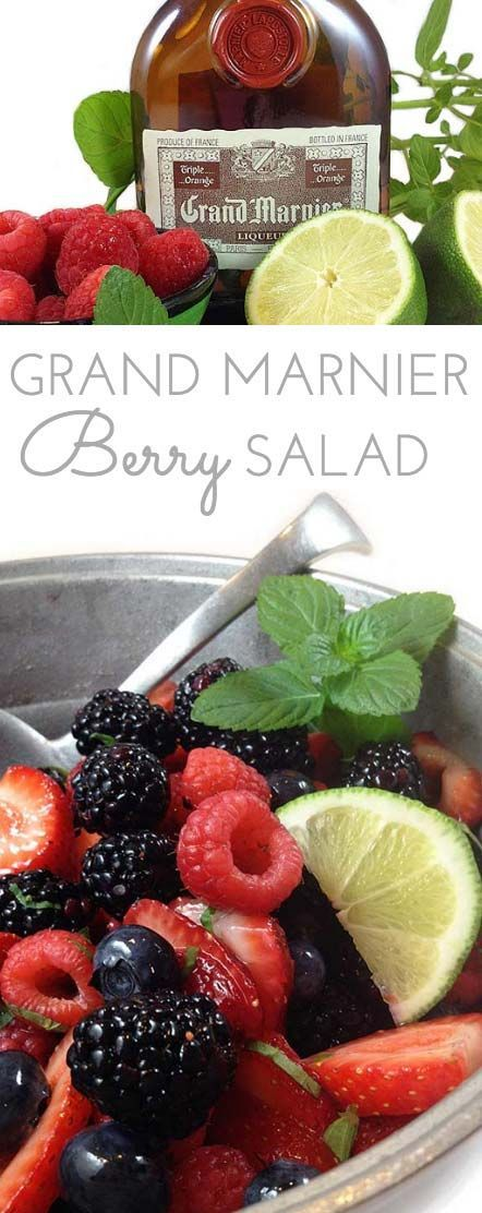 Grand Marnier Berry Salad is beautiful, refreshing and light. Perfect for picnics, potlucks and barbecues. Summer berries make a beautiful presentation.