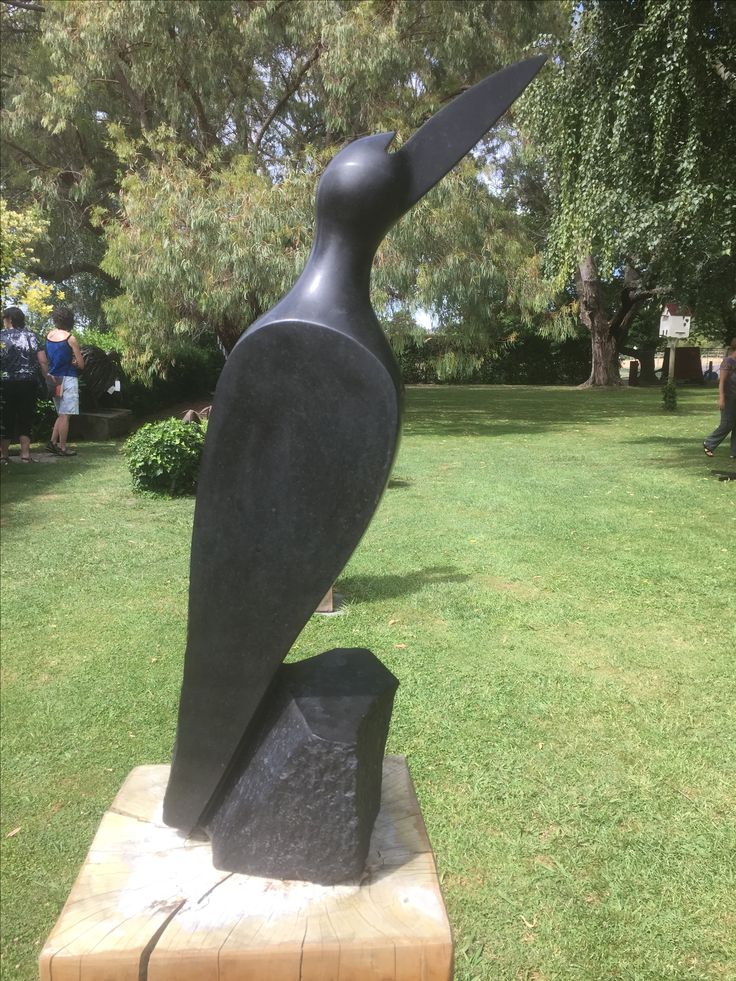 B51-009 Kingfisher by Agrippa Chitanda - Springstone - 65cmh x 20x20cm -$780