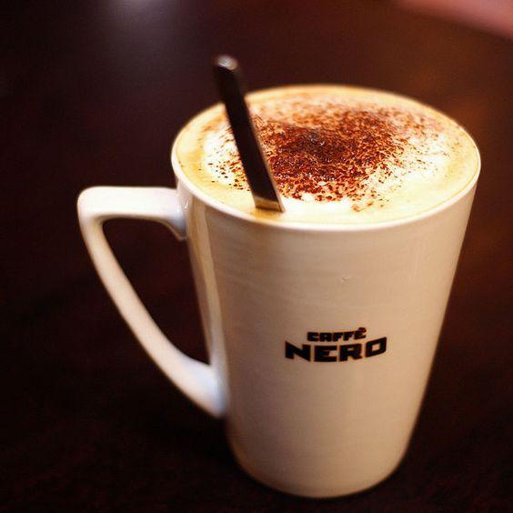 White chocolate mocha coffee in caffe NERO