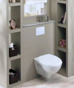 habillage wc suspendu penser aux niches de rangement pour la cloison wc baignoire maison. Black Bedroom Furniture Sets. Home Design Ideas