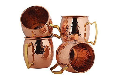 BonBon® Luxury Moscow Mule 100% Copper Mug Cup 4 pack New