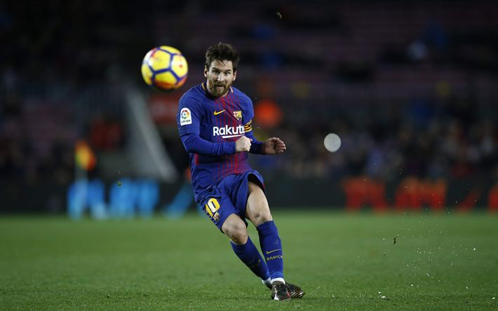 Download wallpapers Leo Messi, Barcelona FC, football, Spain, Catalonia, Argentinian football player, Lionel Messi