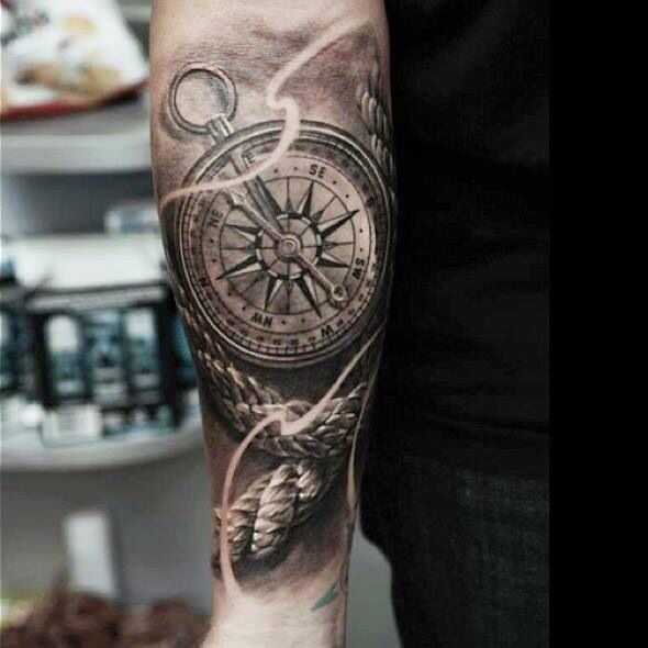 compass and rope tattoo tattoos pinterest rope. Black Bedroom Furniture Sets. Home Design Ideas