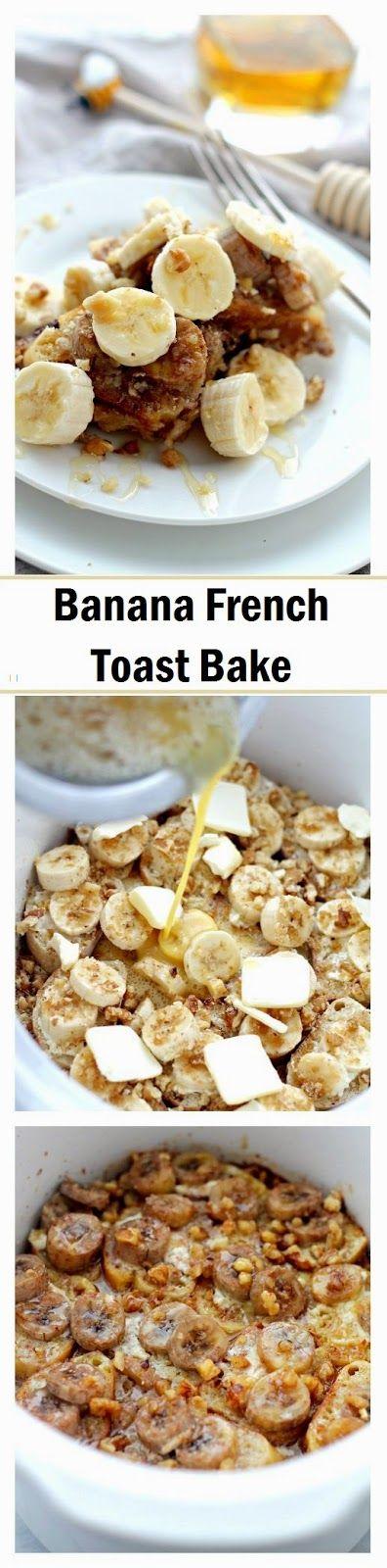 How to make #Banana #French Toast #Bake http://littlefattys.blogspot.com/2014/12/banana-french-toast-bake.html