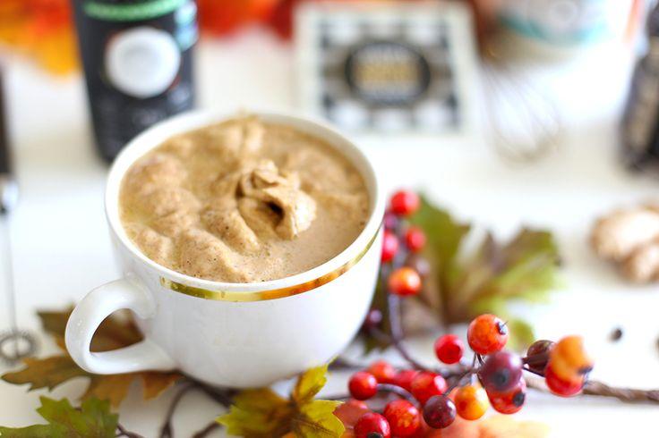 MCT Pumpkin Spiced Latte kitchen.nutiva.com #psl #coconutbutter #MCT