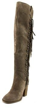 Carlos by Carlos Santana Garrett Women Synthetic Gray Over The Knee Boot.
