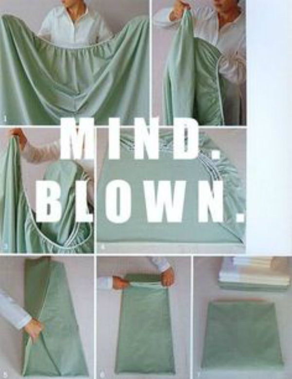 Life Hack: How to Fold a Fitted Sheet... Click for a video tutorial on how to properly fold a fitted sheet. This will change the way you do laundry!
