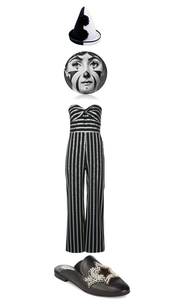 """""""Clown Suit"""" by dreadreas22 ❤ liked on Polyvore featuring Veronica Beard, Circus by Sam Edelman and Fornasetti"""