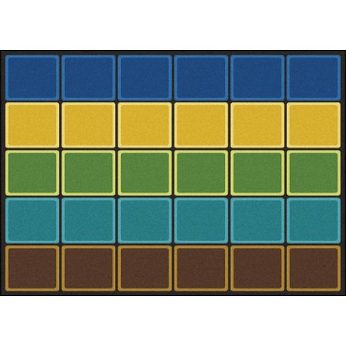 Classroom Decor Rugs : Blocks abound™ rug quot rectangle earthtone