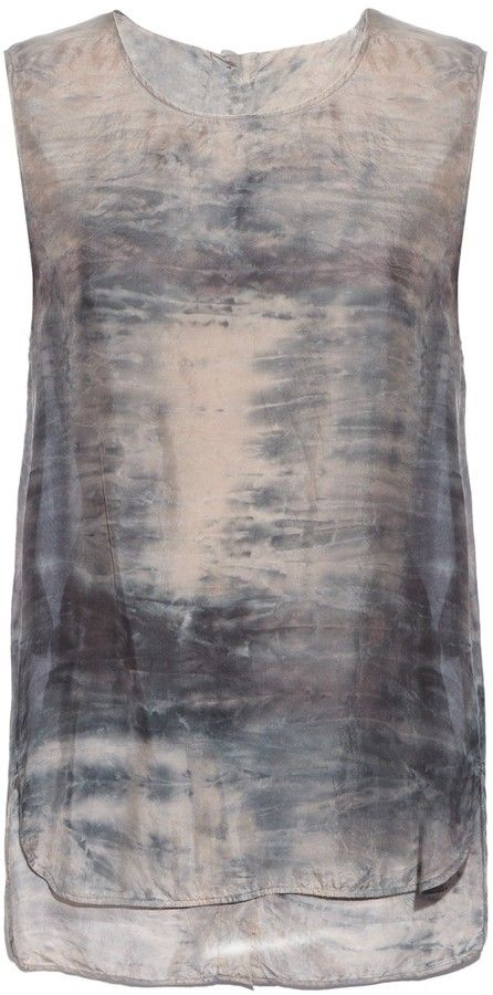 RAQUEL ALLEGRA Sunset tie-dye silk top