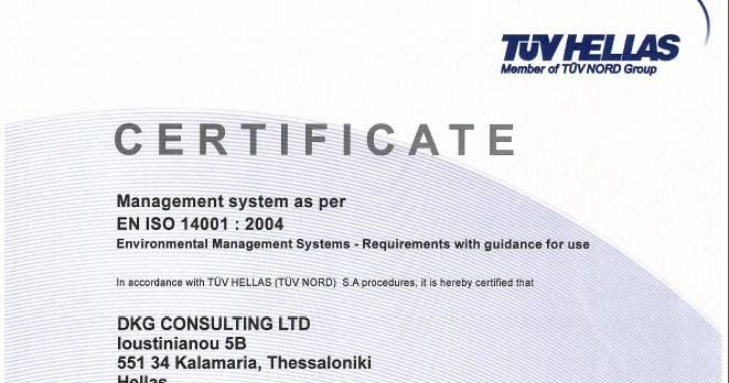 Certifications ~ DKG GROUP