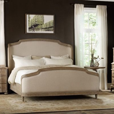 Master bedroom - Hooker Furniture Corsica Upholstered Panel Bed & Reviews | Wayfair Supply
