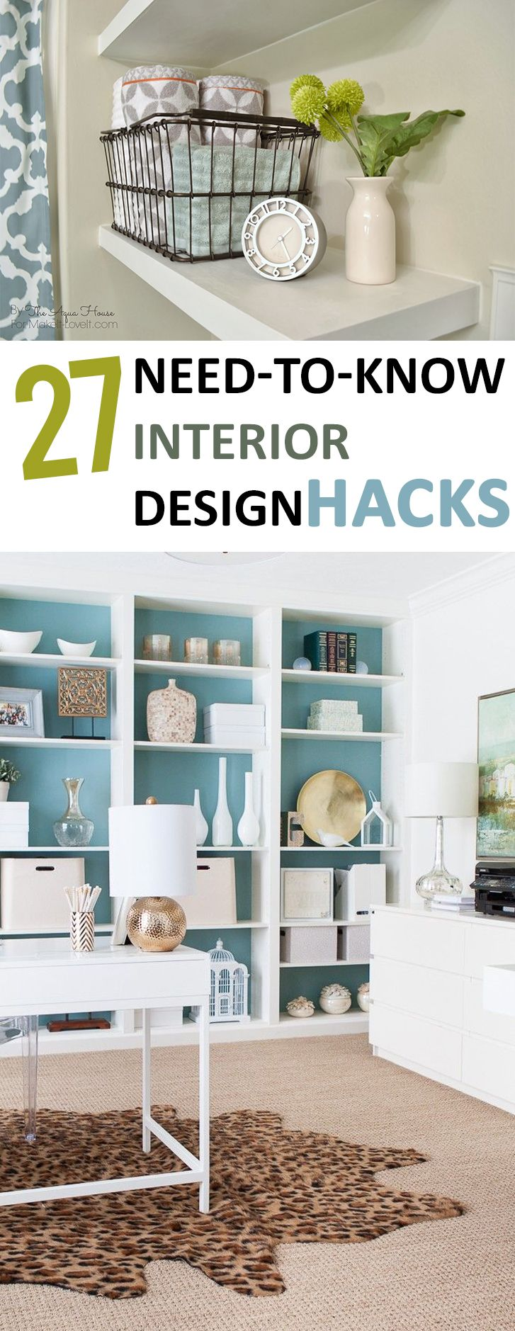 27 need to know interior design hacks - Home Design Tips