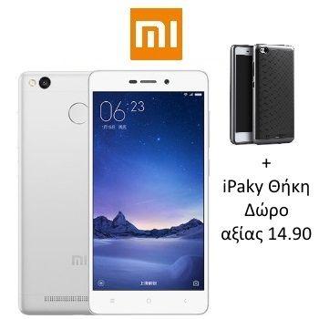 "XIAOMI RedMi 3 Pro 4G(5"" 8πύρηνο 3GB-32GB)(Ασημί)+iPaky Θήκη Ανάλυση Οθόνης:1280X720 Δείκτης Ακτινοβολίας SAR:- Εμπρός Κάμερα:5MP Εσωτερική Μνήμη:32GB Κάρτες Sim:2 - Dual Sim Λειτουργικό:MIUI V7.2 (Android 5.1.x Lollipop) Μέγεθος Οθόνης:5"" Μνήμη Ram:3GB Πίσω Κάμερα:13MP Πυρήνες Επεξεργαστή:8 Ταχύτητα Επεξεργαστή:1.5Ghz Φλας:Ναι"