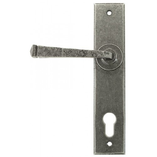 33704 Pewter Lever Handles On Espagnolette Multipoint Backplate. Buy Online  From An Established Dealer You Can Trust!
