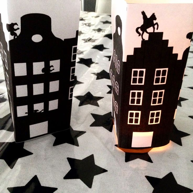 Makkelijk om te knutselen met de kids met free download: Sinterklaas Lichtje. DIY Free download tealight cover