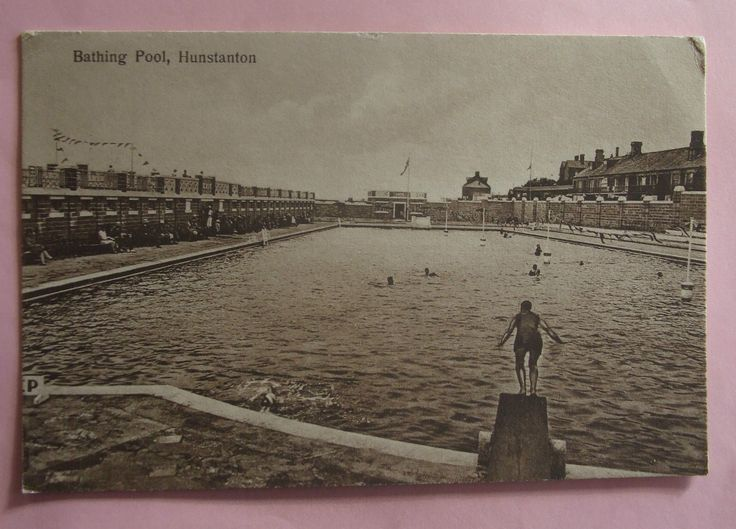 2 Postcards 1930 BATHING POOL & NEW PROMENADE HUNSTANTON NORFOLK | eBay