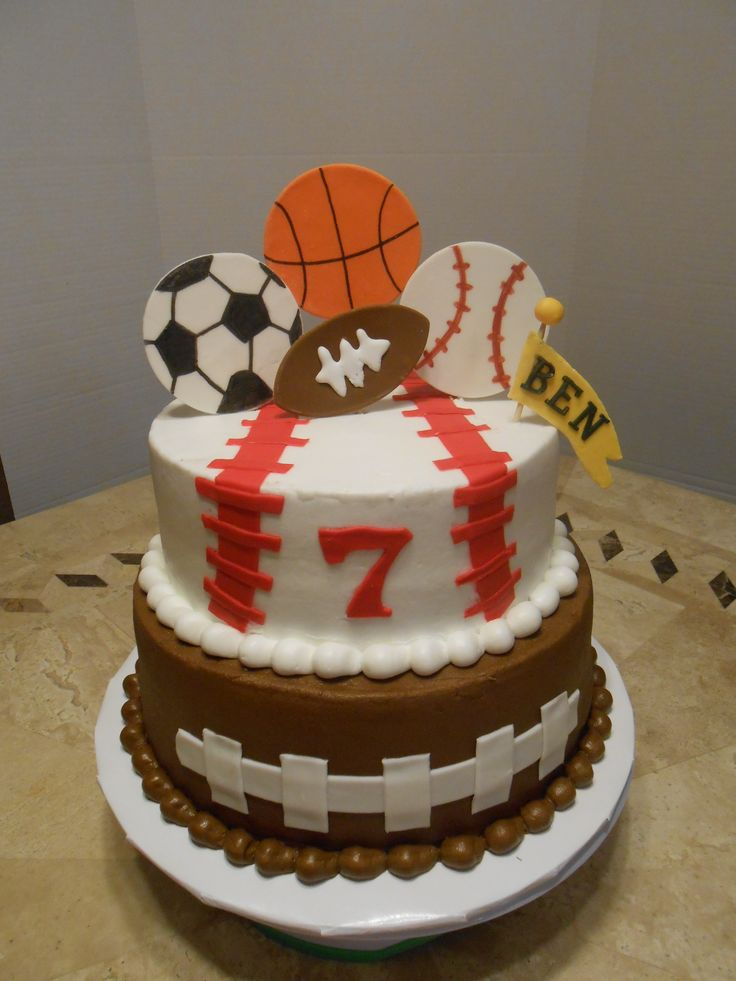 Cake Decorations For Sports : 25+ best ideas about Sports birthday cakes on Pinterest ...