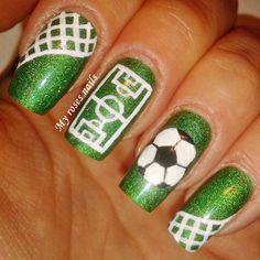 Soccer nail art