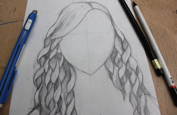how to draw textured hair